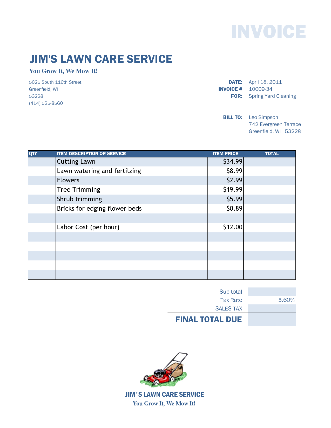 Lawn Care And Landscape Maintenance Contract Pdf
