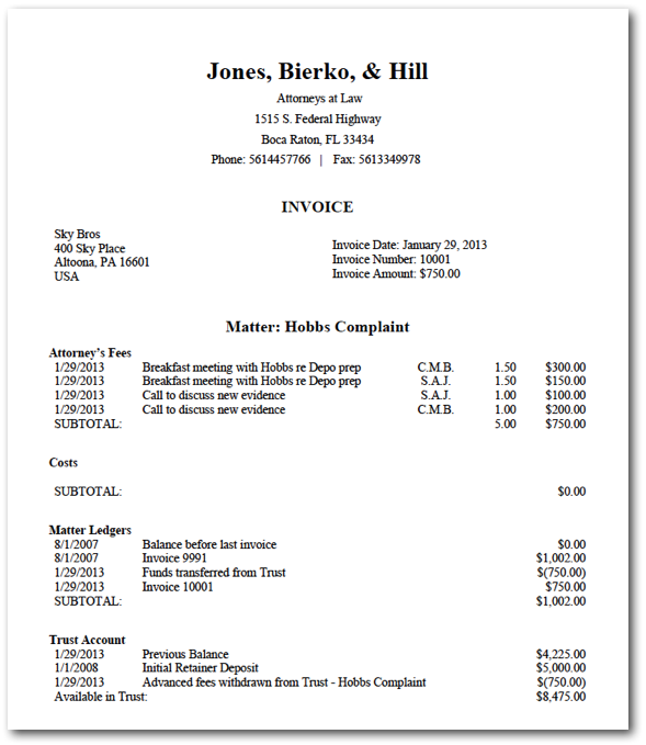 Legal Invoice Template Word ⋆ Invoice Template