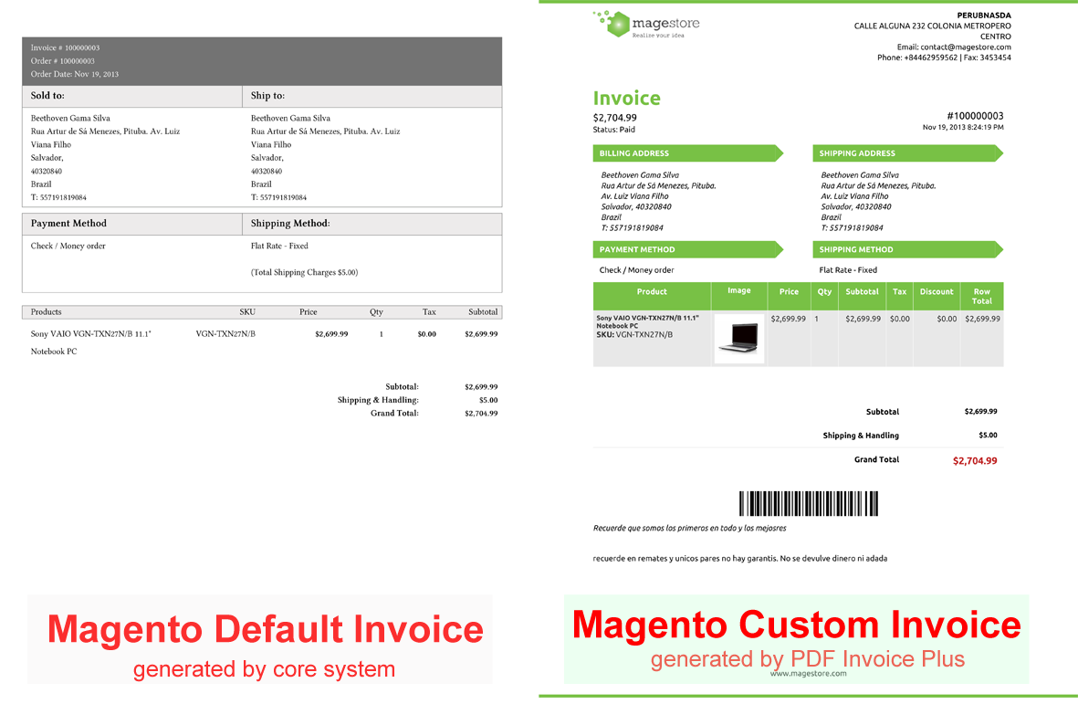 Receipt For Sale Of Car Download Magento Invoice Template  Rabitahnet Receipt Payment Format with Receipt Printing Software Free Download Pdf Magento Invoice Template  Invoice Example Invoice Examples Audi A3 Invoice Price Word