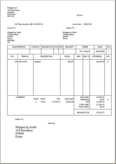 Myob Invoice Template Free ⋆ Invoice Template