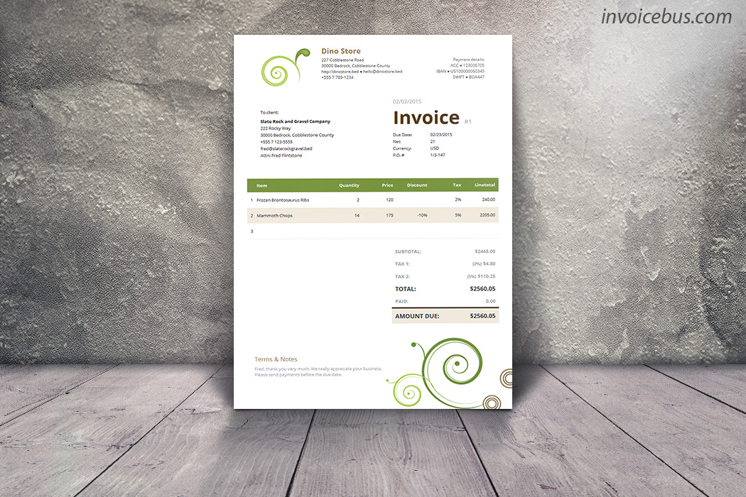 Numbers Invoice Template Free Invoice Template 2017