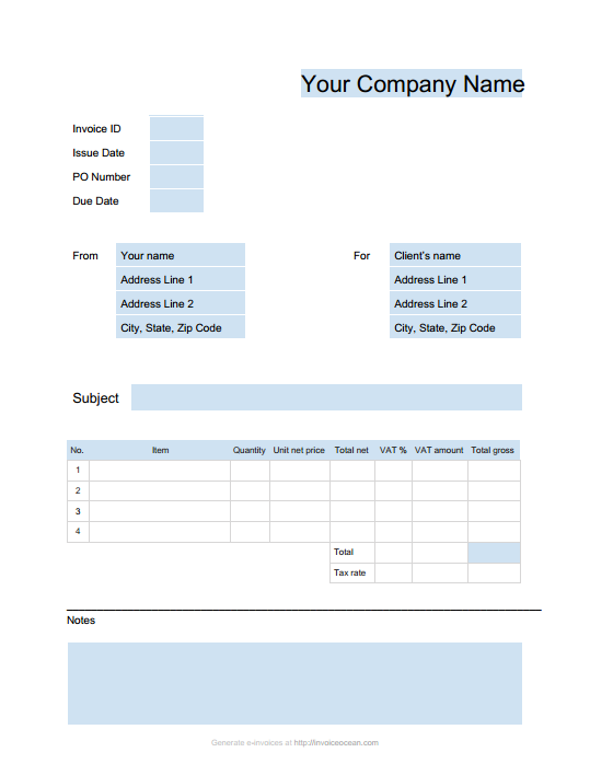 Online Invoices – invoicing software, invoice generating, online