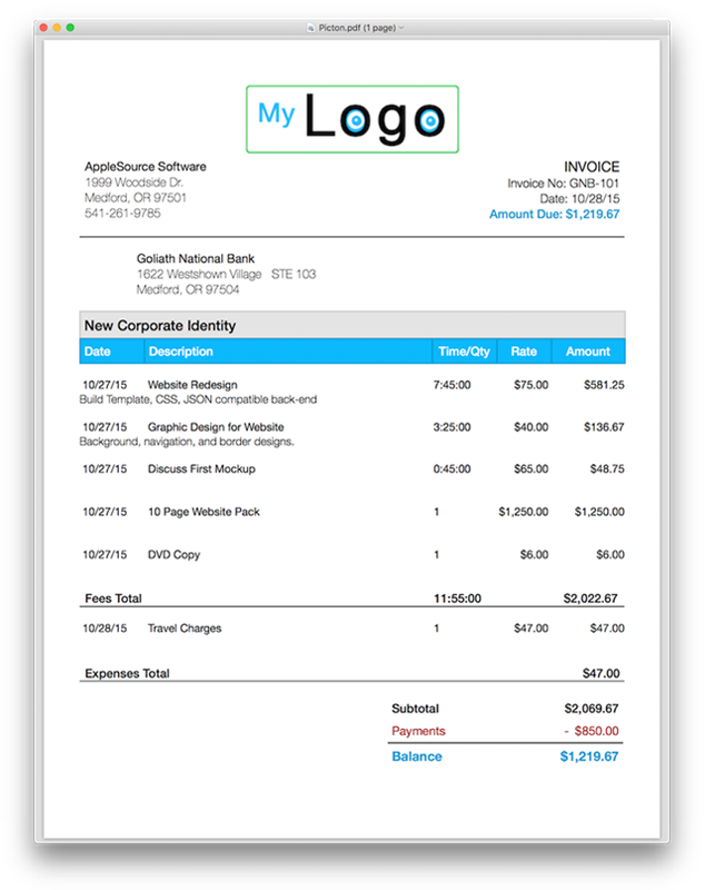 pages invoice template invoice example