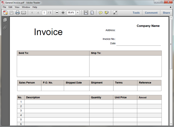 pdf invoice template | invoice example, Invoice templates