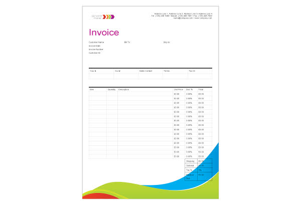 training invoice template