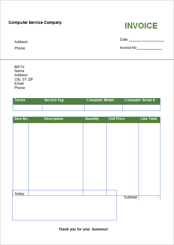 invoice template uk microsoft word – notators, Invoice examples