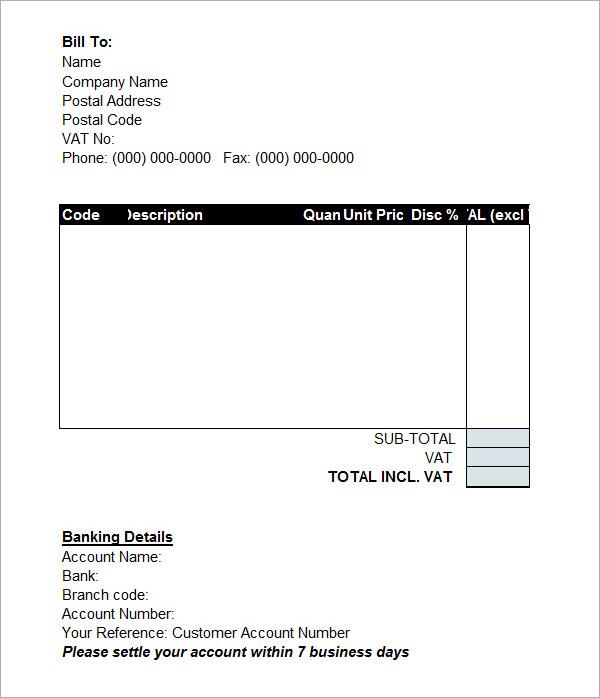 proforma invoice template pdf Template