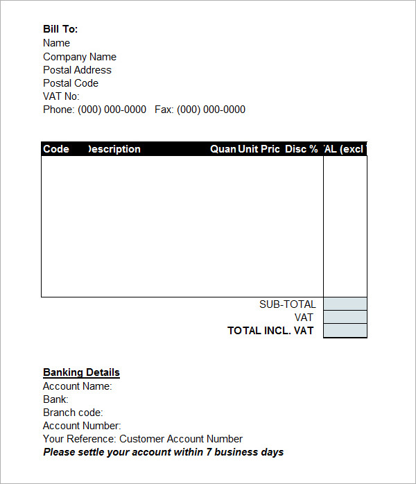 Set Invoice Template Word – Firmsinja.Info