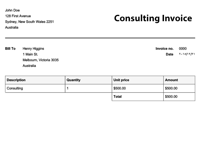 quick invoice template | invoice example, Invoice examples