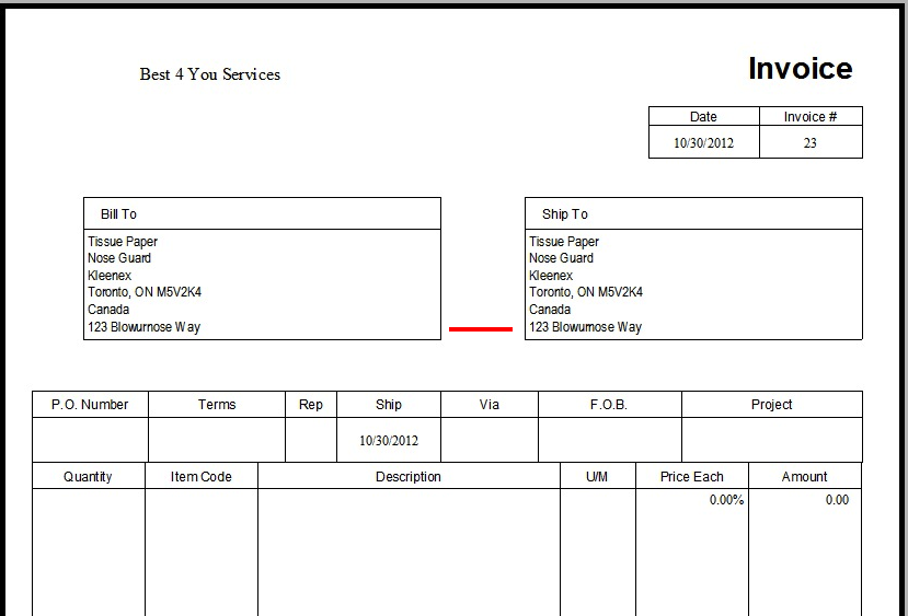 Quickbooks invoice templates the image for Quickbooks sales order template