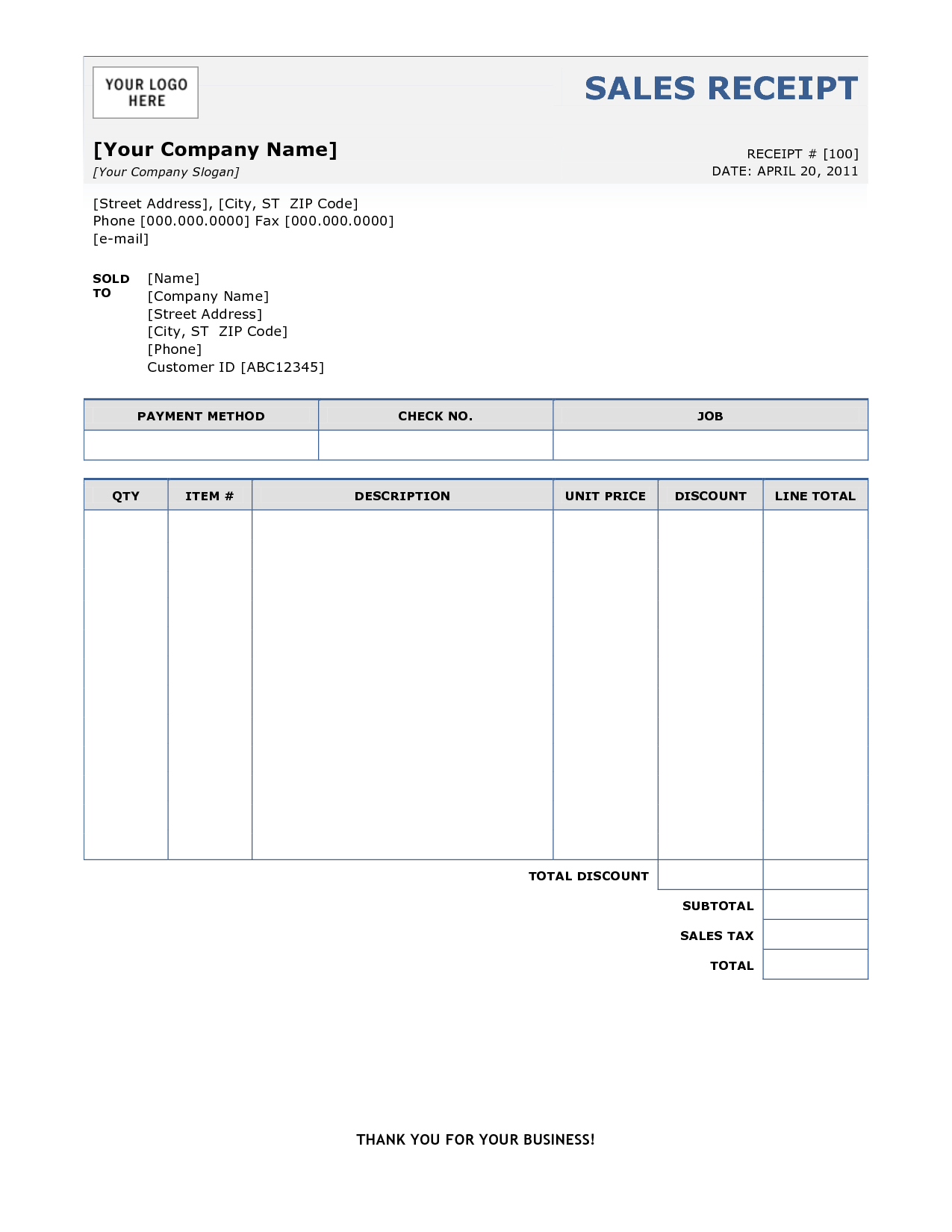 Receipt invoice template invoice example for Templates by vertex42 com