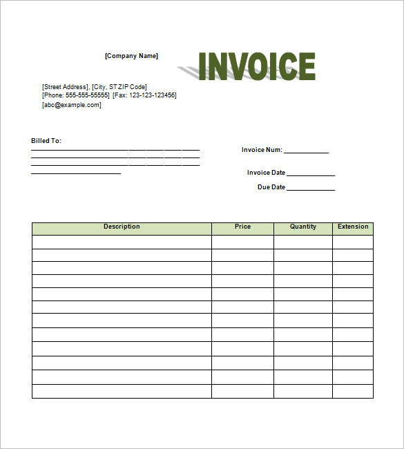 Retail Invoice Template – 8+ Free Word, Excel, PDF Format Download