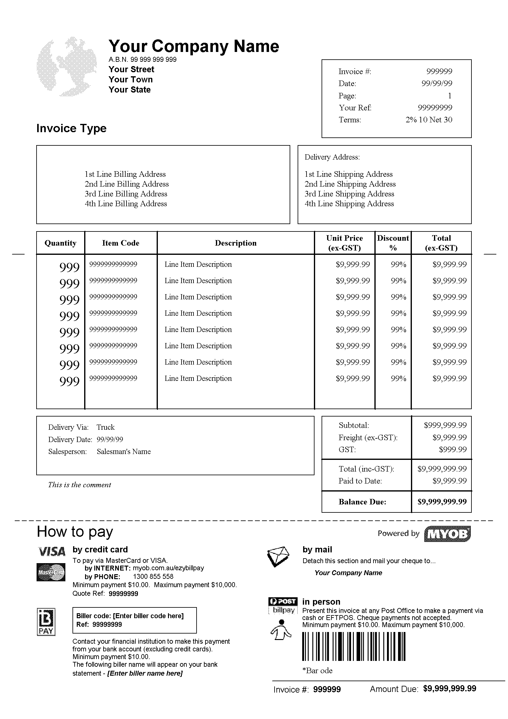 Retail Invoice Template Invoice Example - Personalized invoice template