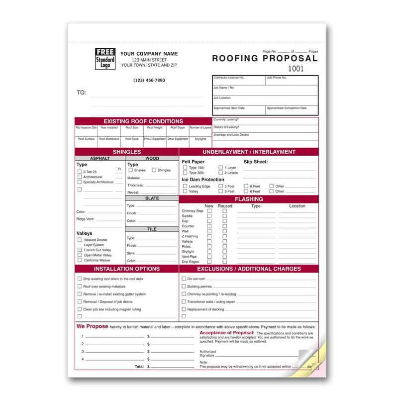 Roofing invoice templates | Printable Paper Invoices