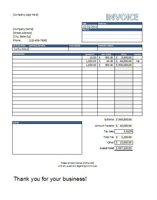 sales invoice template free | invoice example, Invoice templates