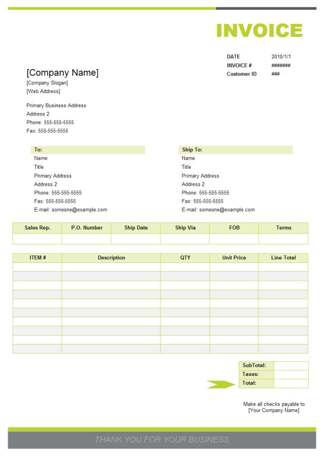 sales invoice sample | sendletters.info