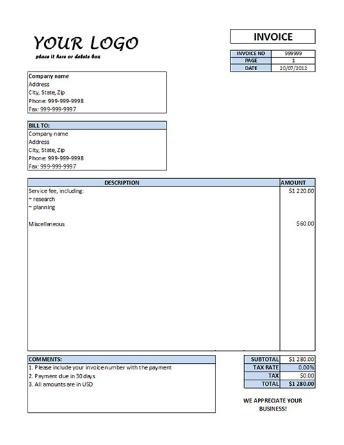 Invoice Form Word. Sample Legal Invoice Template Legal Invoice