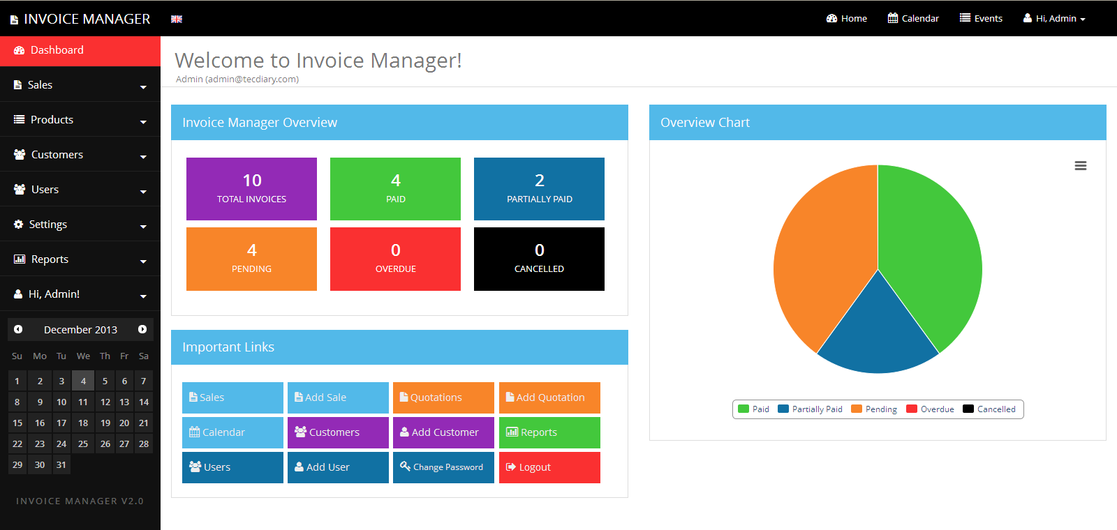 Simple Invoice Manager Invoicing Made Easy by Tecdiary | CodeCanyon