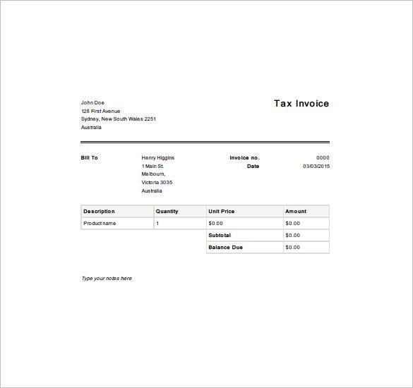 Example Of Simple Invoice Pasoevolistco - Free simple invoice template