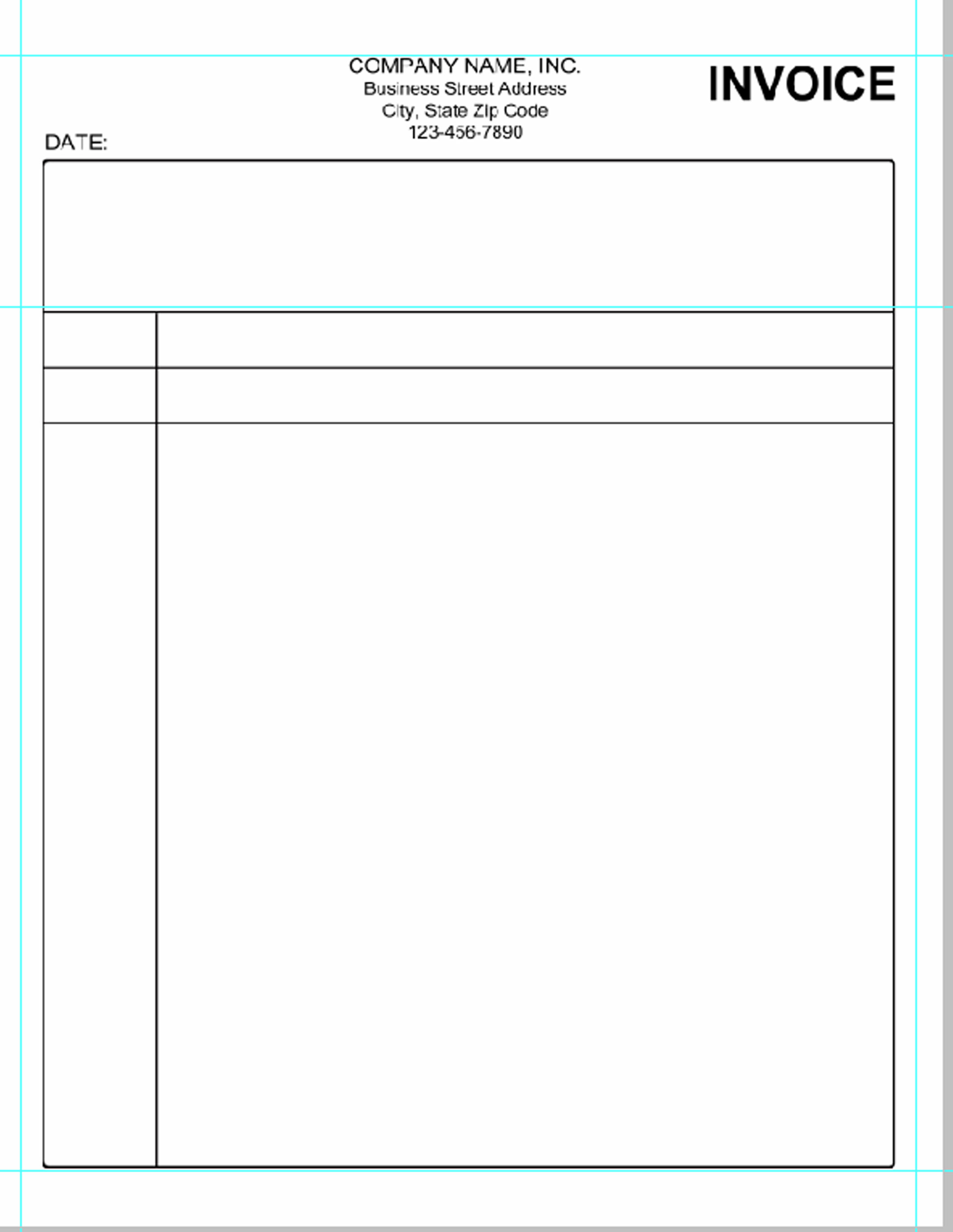 Simple invoice template pdf invoice example for Microsoft free templates