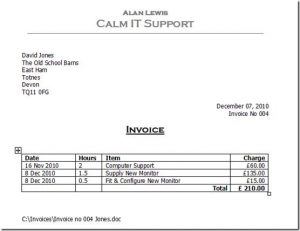 invoice template word doc – notators, Invoice templates