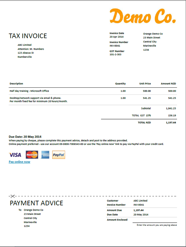 sole trader invoice template nz invoice example