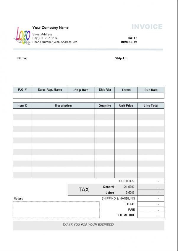 Sole Trader Invoice Template Nz | Design Invoice Template