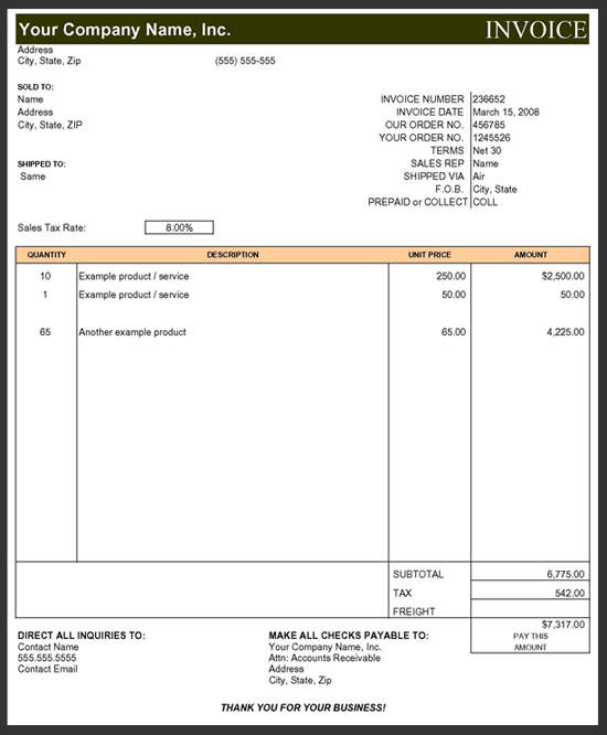 Invoice & Billings ::: Construction Office Online