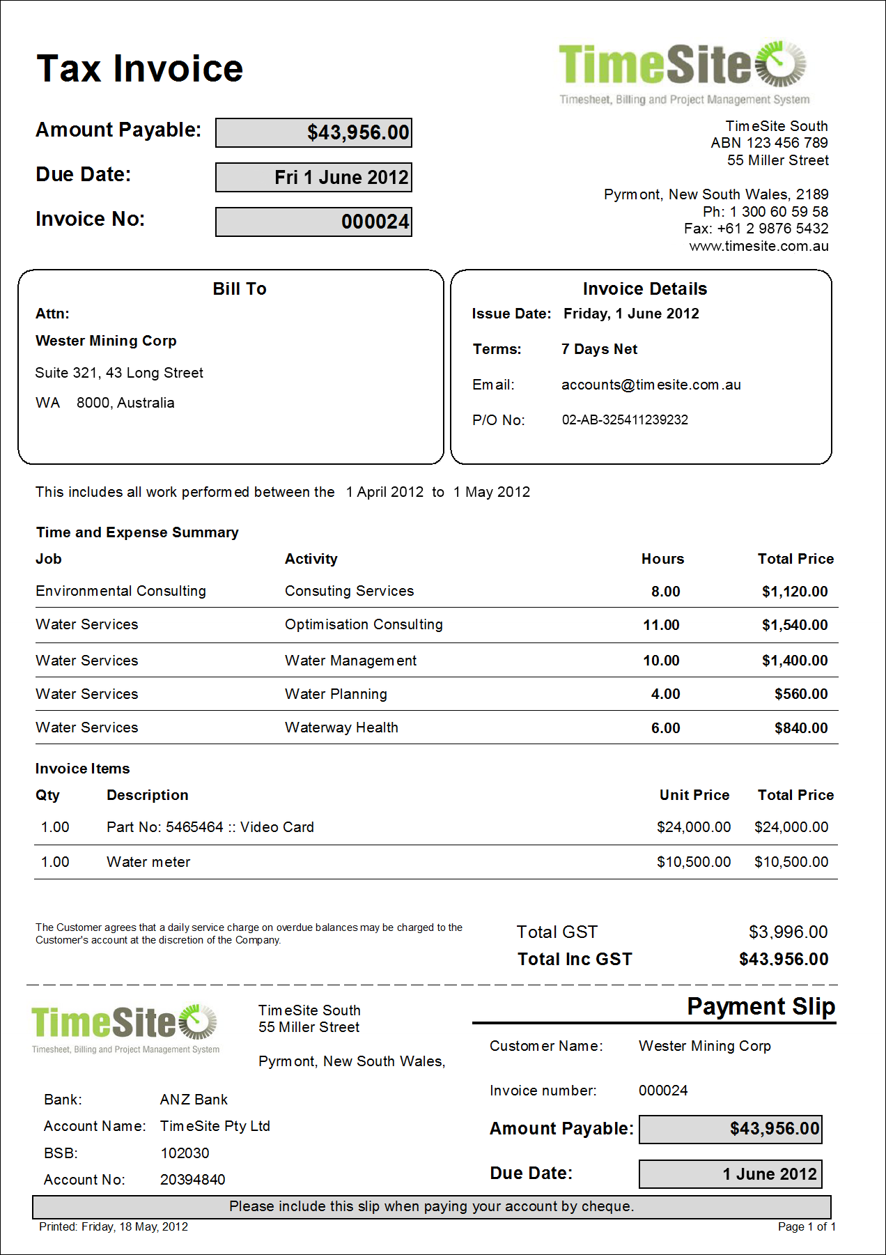 tax invoice template free download