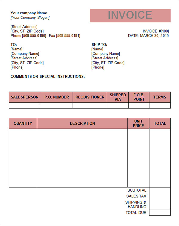 Microsoft Invoice Template – 36+ Free Word, Excel, PDF Documents
