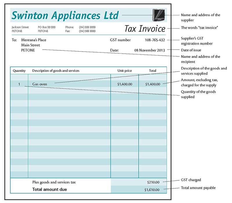 Tax Invoice Samples. Tax Invoice Layout. New Zealand Tax Invoice