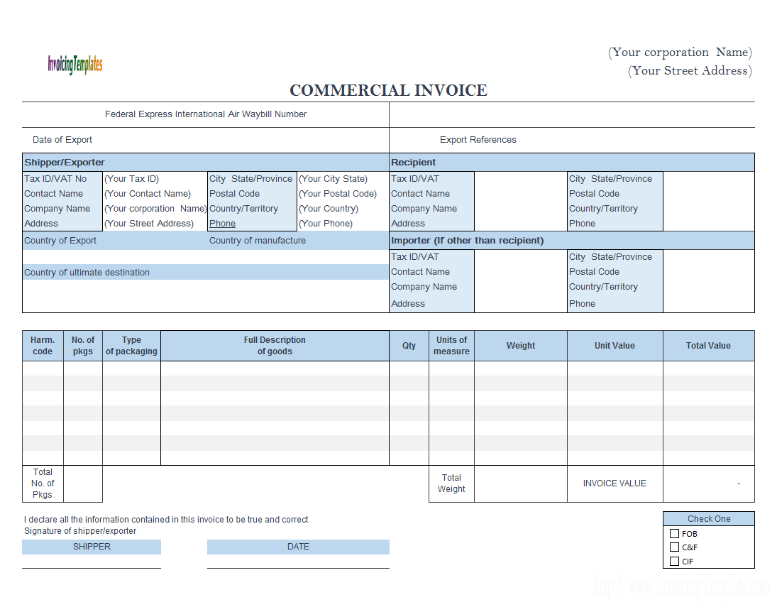 Commercial Invoice Doc Balance Sheet Blank Free Invitation