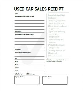 used car receipt template uk | invoice example, Invoice examples