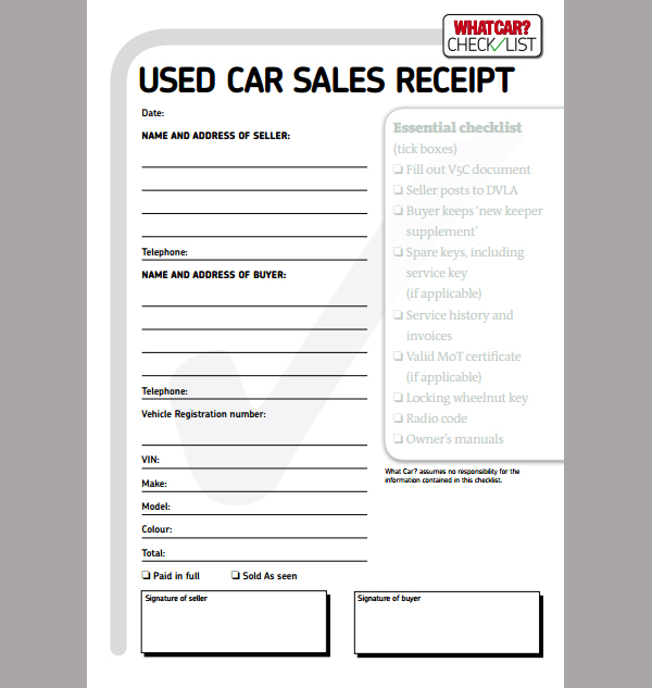 Used Car Sales Invoice Template Uk – Used Car Sales Contract Template