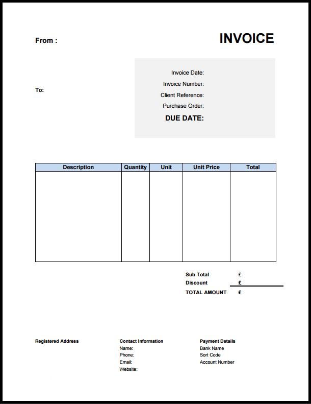 Vat Invoice Template Invoice Example