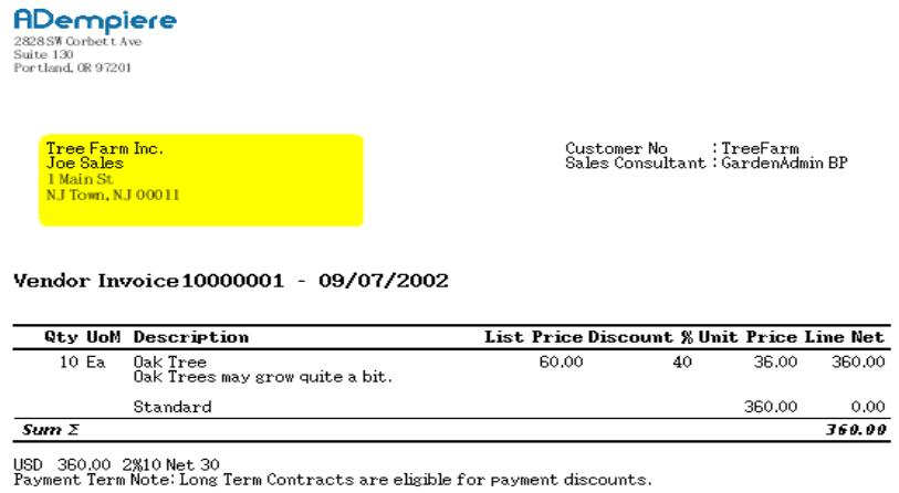Vendor Invoice Template Invoice Example - Vendor invoice template