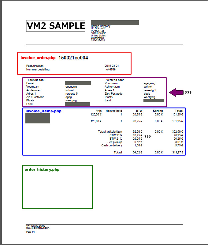 Virtuemart Invoice Template ⋆ Invoice Template