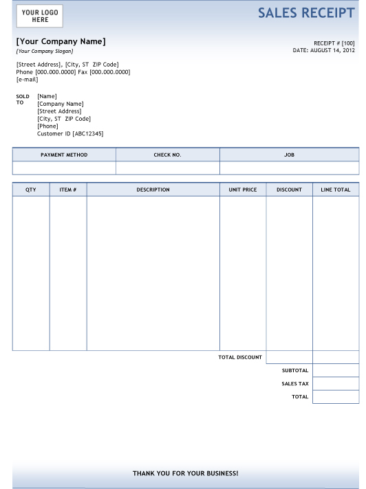 Invoice For Word