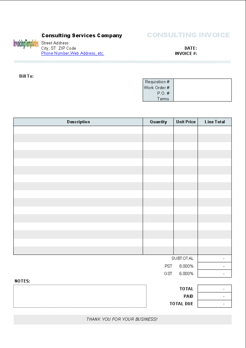 Word invoice template mac invoice example for Microsoft free templates