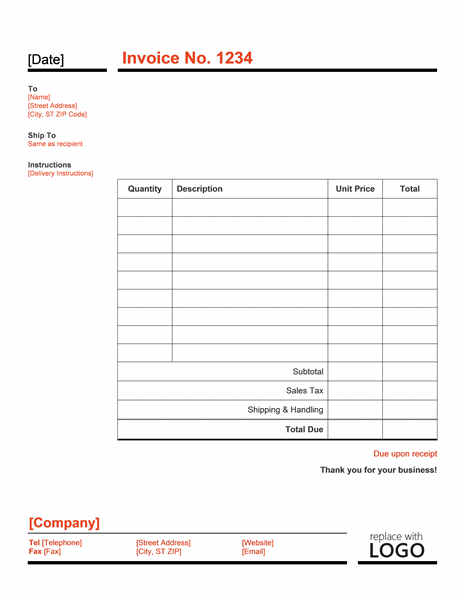 Work Invoice Template Word Invoice Example - Work invoice template free download