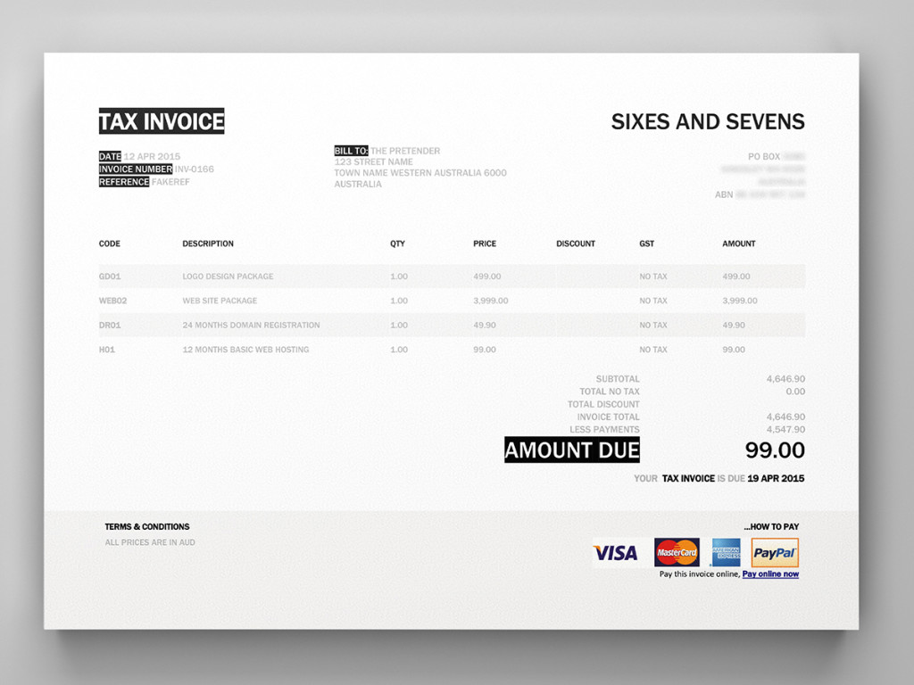 xero invoice template invoice example. Black Bedroom Furniture Sets. Home Design Ideas