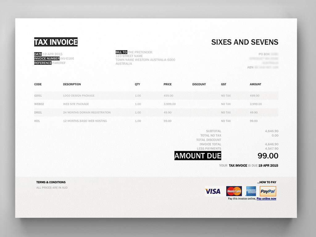 Hello Xero Invoice Template Custom Docx Theme Modern Word Free M