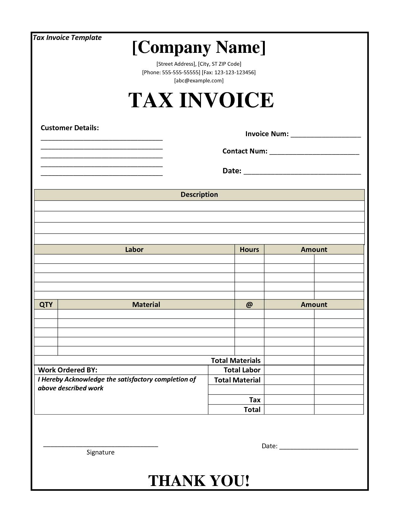 Ato Tax Invoice Template Invoice Example