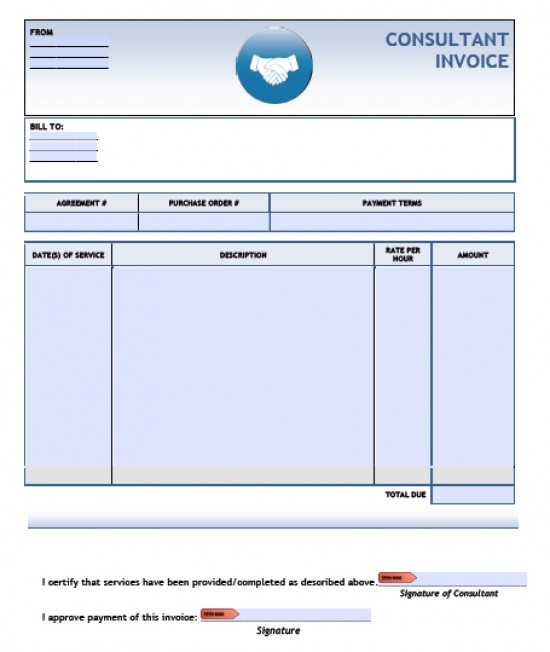 consulting invoice template word
