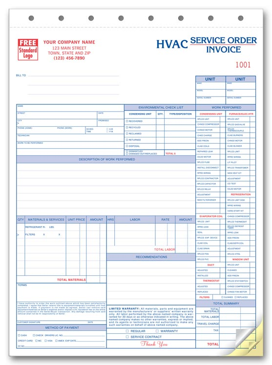 Hvac Invoice Template Invoice Example