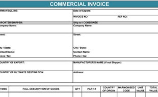 blank commercial invoice template commonpence co
