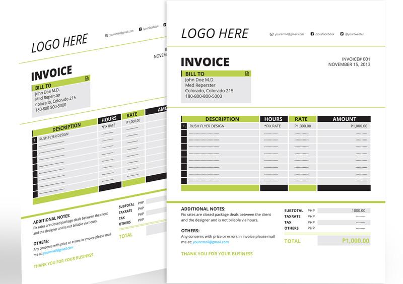 invoice template ai invoice example
