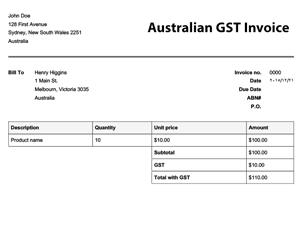 invoice template australia abn