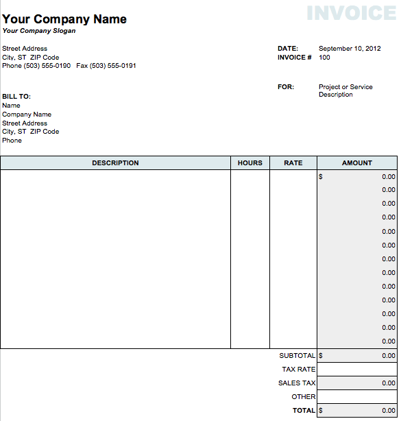 invoice template pages invoice example