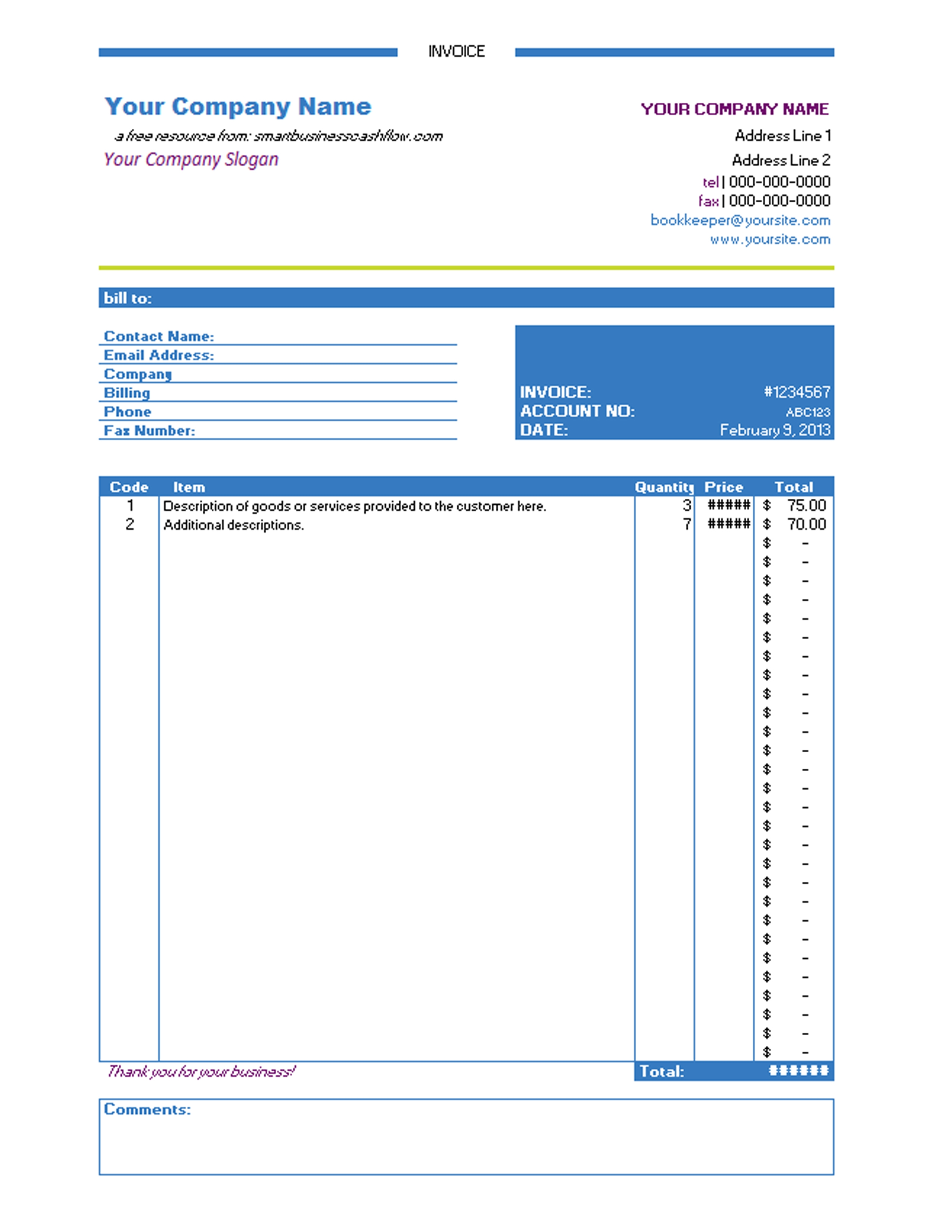 Invoice Template Uk Excel | invoice example